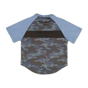 T-Shirt Masculina Infantil / Kids Em Malha Strong - 1+1 Azul