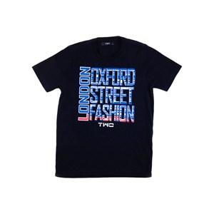 T-Shirt Masculina Infantil / Teen Com Estampa Frontal Em Malha Lisa - Two Azul Jeans