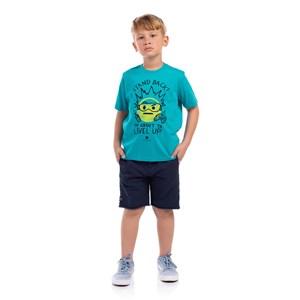 T-Shirt Sustentável Estampa Astronauta Az Turquesa