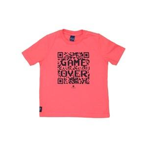 T-Shirt Sustentável Estampa Tecnologia Coral