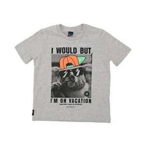 T-Shirt Sustentável Masculina Infantil Estampada Mescla Escuro