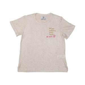 T shirt teen feminina manga curta em malha de viscolinho com detalhe bordado CRU