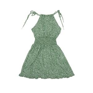Vestido Alcinha Com Lastex Na Cintura Verde