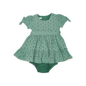 Vestido Calcinha Babados Com Laços Verde