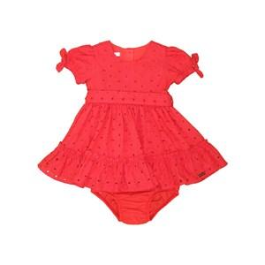 Vestido Calcinha Babados Com Laços Vermelho