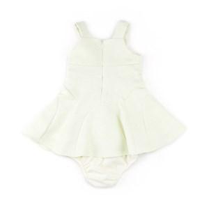 Vestido / Calcinha Infantil / Baby Em Jacquard Com Forro De Tricoline - 1+1 Amarelo Canario