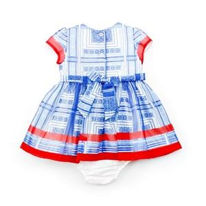 Vestido / Calcinha Infantil / Baby Em Organza Lisa Com Forro De Poliéster - 1+1 Royal