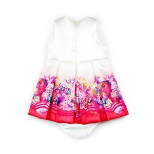 Vestido / Calcinha Infantil / Baby Em Sarja Acetinada Com Forro De Tricoline Com Poliéster - 1+1 Pink