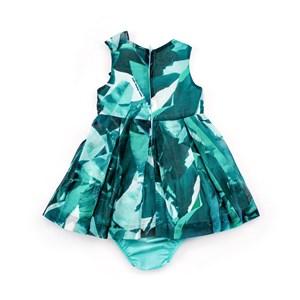 Vestido / Calcinha Infantil / Baby Em Voial Com Forro De Tricoline - 1+1 Verde