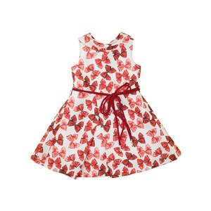 Vestido Com Gola Redonda E Cinto Rolitê Vermelho