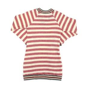 Vestido Feminino Infantil / Teen Em Moletom S/Felpa Listrado C/Acabamento De Retilinea Decote, Punho Vermelho