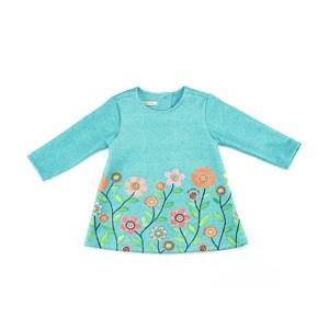 Vestido Infantil / Baby Com Estampa Em Neoprene Leve - 1+1 Verde