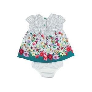 - Vestido Infantil / Baby Em Crepe Liso Com Lycra - 1+1 Cru
