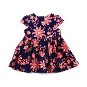Vestido Infantil / Baby Em Jeans Com Bordado Floral - 1+1 Única