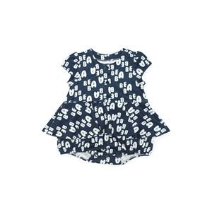 Vestido  Infantil / Baby Em Malha Casinha De Abelha Estampado - Beaba Marinho