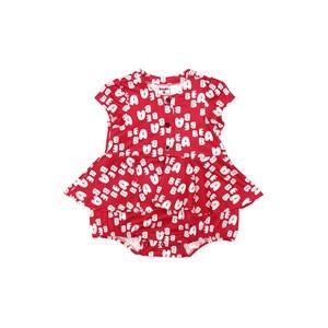 Vestido  Infantil / Baby Em Malha Casinha De Abelha Estampado - Beaba Vermelho