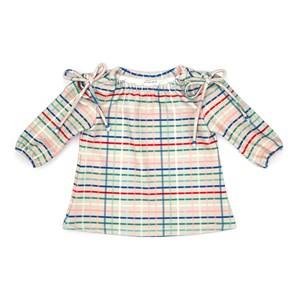 Vestido Infantil / Baby Em Malha Casinha De Abelha Estampado - Um Mais Um Bege Claro
