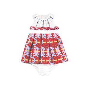 Vestido Infantil / Baby Em Neoprene Cru - 1+1 Vermelho