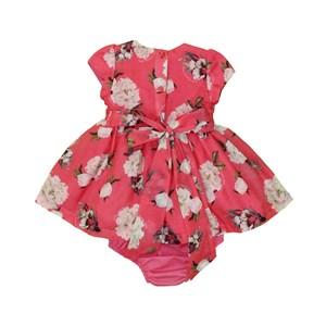 Vestido Infantil / Baby Em Organza Engomada Com Voial - Um Mais Um Goiaba
