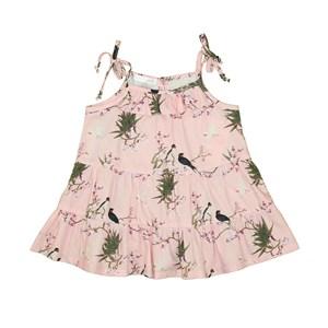 Vestido Infantil De Alcinha Com Babados Rose