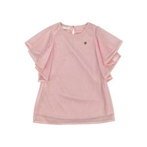 Vestido infantil em tela quadriculada com forro - um mais um ROSA CLARO