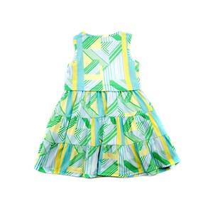 Vestido Infantil Estilo Regata Em Malha Com Lycra Estampada - 1+1 Verde
