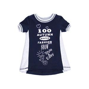 Vestido Infantil / Kids Com Estampa Frontal Em Moletinho Com Lycra - 1+1 Preto
