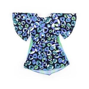 Vestido Infantil / Kids Com Recorte Nos Ombros Em Crepe De Chine - 1+1 Verde