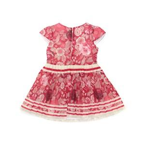 Vestido Infantil / Kids Em Chiffon Estampado Com Saia Plissada - Um Mais Um Vermelho