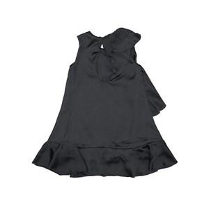 Vestido infantil / kids em crepe liso com sedinha acetinado - um mais um Preto