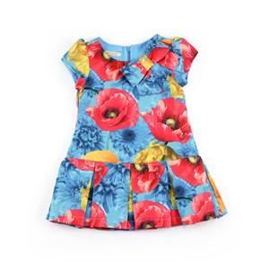 Vestido Infantil / Kids Em Crepe Sarjado - 1+1 Turquesa