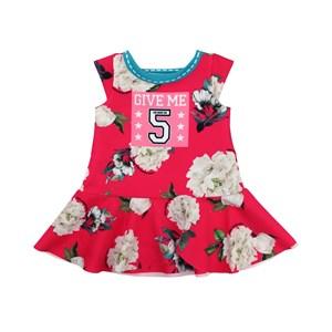 Vestido Infantil / Kids Em Crepe Sarjado Alfaiataria - Um Mais Um Pink