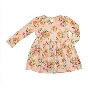 Vestido Infantil / Kids Em Malha Jacquard Estampado - Beaba Rosa Claro