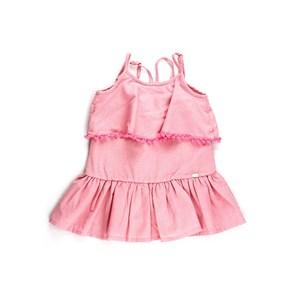 Vestido Infantil / Kids Em Tricoline Rosê - Um Mais Um Rosa Claro
