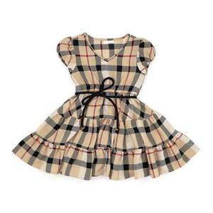 Vestido Infantil/Kids Feminino Em Crepe Com Lycra - Um Mais Um Bege Claro