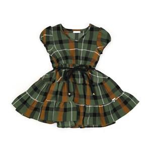 Vestido Infantil/Kids Feminino Em Crepe Com Lycra - Um Mais Um Verde