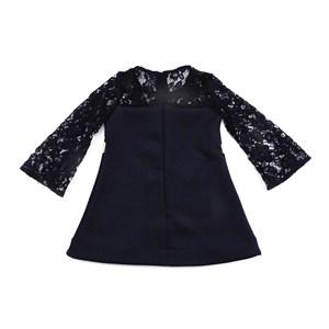 - Vestido Infantil / Kids Neoprene Liso Com Helanquinha Para Forro - 1+1 Preto