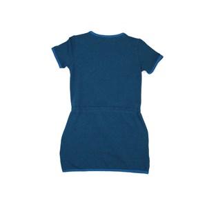 Vestido Infantil / Teen Em Moletom Com Lycra Sem Felpa Com Bordado Frontal - Two In Azul