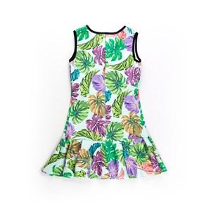 Vestido Infantil / Teen Em Neoprene Estampado - Twoin Verde