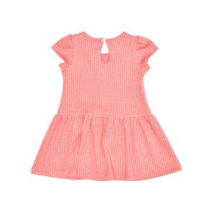 Vestido Manga Curta Infantil / Kids Em Suedine Com Listrinhas - Beabá Rosa Claro