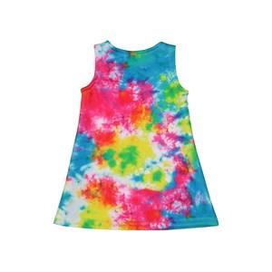 Vestido Trapézio Infantil Regata Tye Dye Única